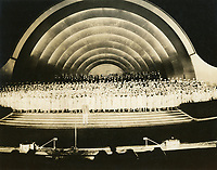 1932 The Hollywood Bowl concert at night