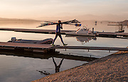 Varese. Lombardia. ITALY. General View. Varese Rowing Club. [Canottieri Varese] Province of Varese.  Sunset <br /> <br /> Monday  02/01/2017<br /> <br /> [Mandatory Credit; Peter Spurrier/Intersport-images]<br /> <br /> <br /> LEICA CAMERA AG - LEICA Q (Typ 116) - 1/320 - f4 , Atmospheric, mist, fog, Sunrise, Sunset, Blue Hour,