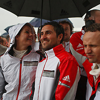 A happy Porsche team after the race at Silverstone 6h, 2014