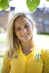 © London News Pictures. 23/07/2012. Tonbridge, Kent. Liz Parnov - pole vaulter. Photocall for the Australian Olympic Athetics team who are based at Tonbridge School in Kent.