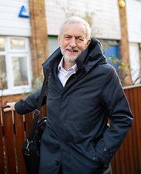 © Licensed to London News Pictures. 10/12/2018. London, UK. Leader of the Labour Party Jeremy Corbyn leaves home this morning, after British Prime Minister Theresa May yesterday cancelled the vote on her EU withdrawal deal, which was due to take place today. Photo credit : Tom Nicholson/LNP