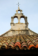 Detail of church roof, Racisce, island of Korcula, Croatia