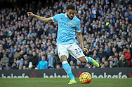 Gaël Clichy (Manchester City) crosses the ball during the Barclays Premier League match between Manchester City and Tottenham Hotspur at the Etihad Stadium, Manchester, England on 14 February 2016. Photo by Mark P Doherty.