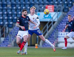 20MAR21 Falkirk's Mark Durnana and Montrose Russell McLean. Falkirk 2 v 0 Montrose, Scottish Football League Division One game played 20/3/2021 at The Falkirk Stadium.