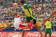 Footbal-FIFA Beach Soccer World Cup 2006 - Final- BRA xURU -BURU and Fabian  -Rio de Janeiro- Brazil - 12/11/2006.<br />Mandatory Credit: FIFA/Ricardo Ayres