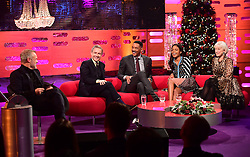 (left to right) Graham Norton, Martin Freeman, Will Smith, Naomie Harris and Dame Helen Mirren appearing on the Graham Norton Show filmed at the London Studios. London, which will be transmitted on BBC One on December 23.