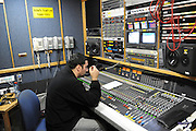 Sound engineer in the control room