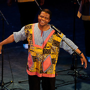 Ladysmith Black Mambazo founder and leader Joseph Shabalala performing at The Music Hall, Portsmouth, NH