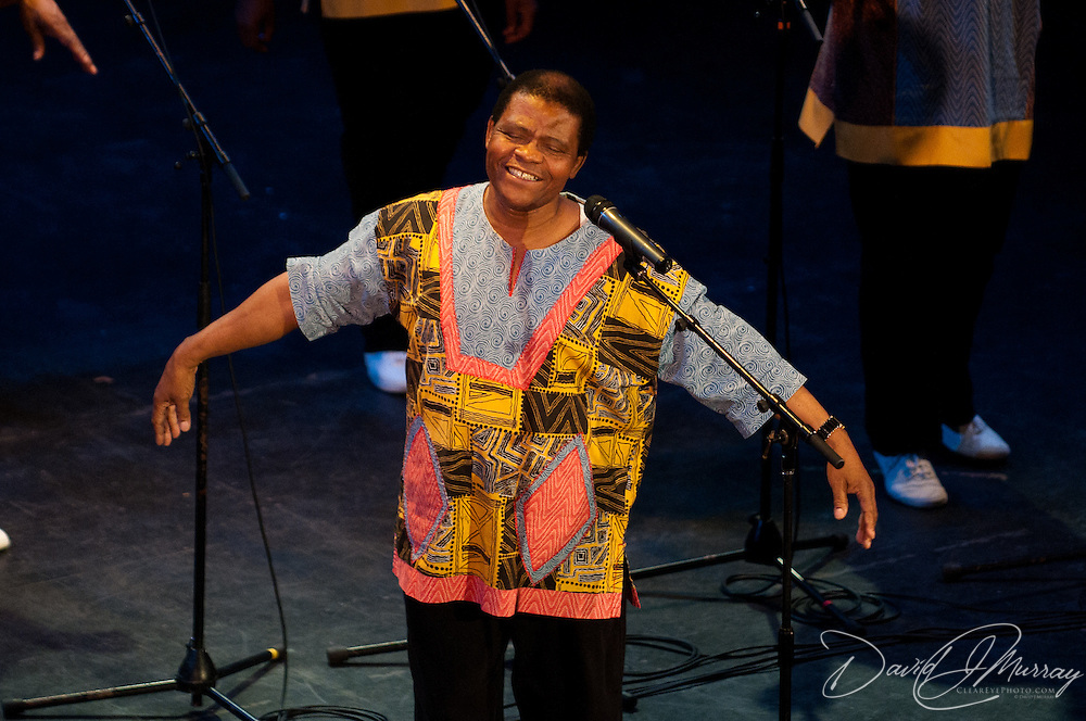 Ladysmith Black Mambazo founder and leader Joseph Shabalala performing at The Music Hall, Portsmouth, NH