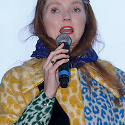 Speaker Lily Cole attends The Salesman, Trafalgar Square,London,UK. by See Li