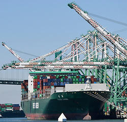 """June 28,2017. San Pedro. CA. LA portÃ•s largest terminal remains closed after cyberattack Wednesday. Los Angeles portÃ•s second largest terminal remained closed today after a cyberattack knocked the APM Terminal offline Tuesday...Danish shipping giant A.P. Moller-Maersk, which operates the terminal, was hit by malicious software that is crippling computers globally. The company says it has Ã'contained the issueÃ"""" but port officials said the terminal will remain closed at least through the evening as the company seeks to resolve the crisis.  .Photo by Gene Blevins/LA DailyNews/ZumaPress (Credit Image: © Gene Blevins via ZUMA Wire)"""