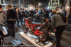Custom Ducati Scrambler at the One Show motorcycle show in Portland, OR. February 13, 2016. ©2016 Michael Lichter