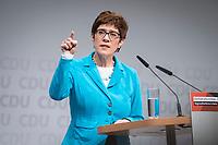 30 NOV 2018, BERLIN/GERMANY:<br /> Annegret Kramp-Karrenbauer, CDU Generalsekretaerin, haelt eine Rede, waehrend der Regionalkonferenz der CDU zur Vorstellung der Kandidaten fuer das Amt des Bundesvorsitzenden der CDU, Estrell Convention Center<br /> IMAGE: 20181130-01-035