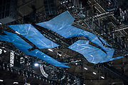 """A view of the decorated rafters for """"Cirque du Soleil: CRYSTAL"""" during rehearsal at the Alliant Energy Center in Madison, WI on Wednesday, May 1, 2019."""