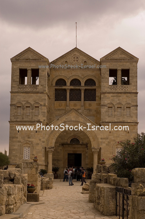 Israel, Galilee, Jezreel Valley, mount Tabor, Roman Catholic church of the Transfiguration