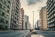 Minhocão Causeway in São Paulo, Brazil.