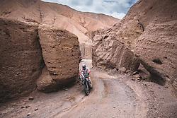 Santosh Chunchunguppe Shivashankar (IND) of Hero Motorsport  races during stage 5 of Rally Dakar 2019 from Moquegua to Arequipa, Peru on January 11, 2019.