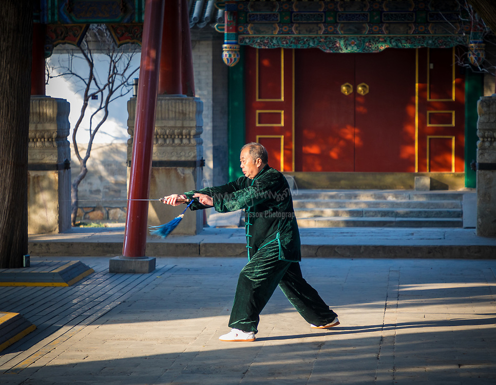 Tai chi (taiji), short for T'ai chi ch'üan, or Tai ji quan (pinyin: tàijíquán; 太极拳), is an internal Chinese martial art practiced for both its defense training and its health benefits. The term taiji refers to a philosophy of the forces of yin and yang, related to the moves. Though originally conceived as a martial art, it is also typically practiced for a variety of other personal reasons: competitive wrestling in the format of pushing hands (tui shou), demonstration competitions and achieving greater longevity. As a result, a multitude of training forms exist, both traditional and modern, which correspond to those aims with differing emphasis. Some training forms of tàijíquán are especially known for being practiced with relatively slow movements.<br /> <br /> Today, tai chi has spread worldwide. Most modern styles of tai chi trace their development to at least one of the five traditional schools: Chen, Yang, Wu (Hao), Wu and Sun. All of the former, in turn, trace their historical origins to Chen Village.