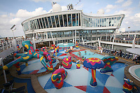Launch of Royal Caribbean International's newest ship Allure of the Seas.