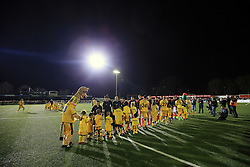 20 February 2017 - The FA Cup - (5th Round) - Sutton United v Arsenal - The team line up for the pre-match handshakes - Photo: Marc Atkins / Offside.