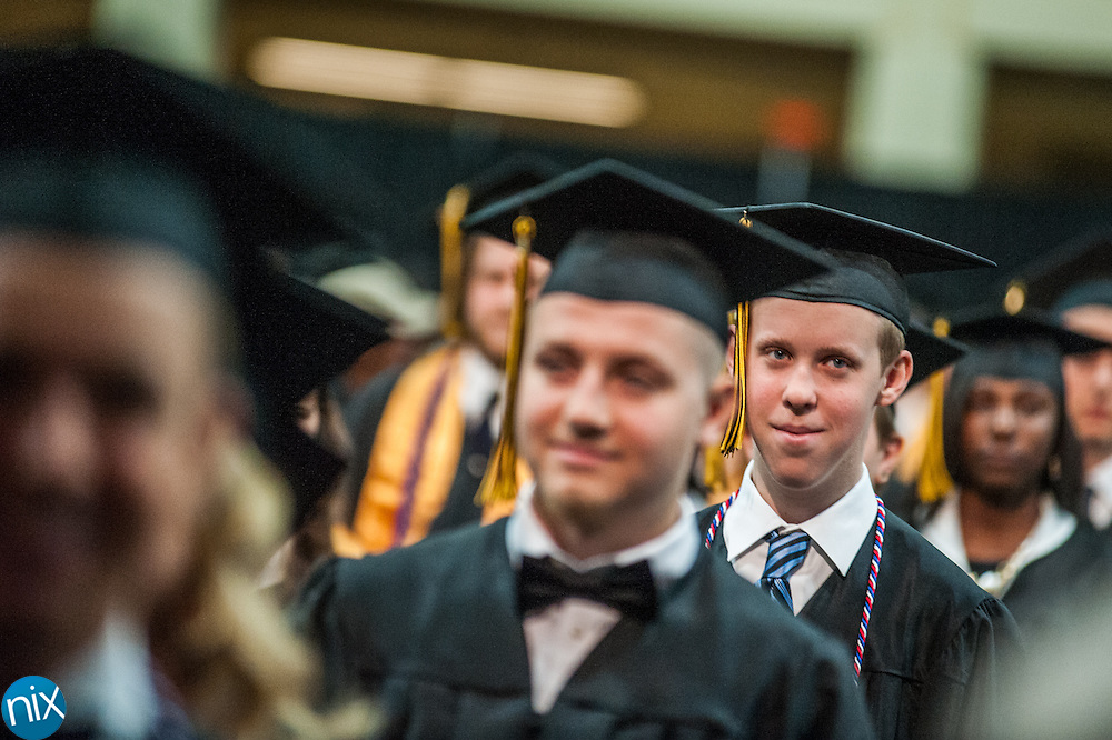 The Commencement Ceremony for Concord High School at the Cabarrus Arena and Events Center Friday afternoon.