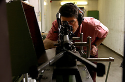 HERSTAL, BELGIUM - APRIL-15-2003 - Weapons are test fired in a special chamber at the FN Herstal weapons fabrication plant near Liege, Belgium. (PHOTO © JOCK FISTICK)