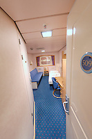Fisheye View of My Cabin on the M/S Kong Harald. Image taken with a Nikon Dxs and 10.5 mm f/2.8 fisheye lens (ISO 400, 10.5 mm, f/2.8, 1/15 sec)