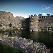 Beaumaris castle moat, Beaumaris, Wales (November 2005)