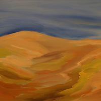 Los Osos Hills.  Plein air oil sketch, 9 x 12.