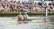Henley on Thames. United Kingdom. Double Sculls Challenge Cup. Leander Club, Bow Nick MIDDLETON and Stroke Jack BEAUMONT. Sunday 25.06.2016. 2016 Henley Royal Regatta, Henley Reach.   [Mandatory Credit Intersport Images]
