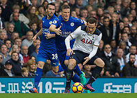 Football - 2016 / 2017 Premier League - Tottenham Hotspur vs. Leicester City<br /> <br /> Vincent Janssen of Tottenham and Robert Huth of Leicester City at White Hart Lane.<br /> <br /> COLORSPORT/DANIEL BEARHAM