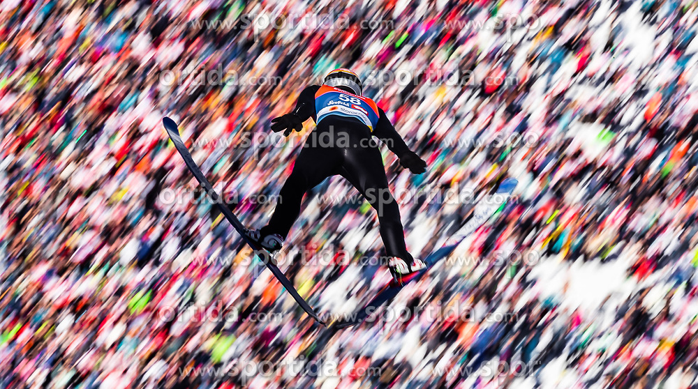 28.02.2019, Seefeld, AUT, FIS Weltmeisterschaften Ski Nordisch, Seefeld 2019, Nordische Kombination, Skisprung, im Bild Franz Josef Rehrl (AUT) // Franz Josef Rehrl of Austria during the Ski Jumping competition for Nordic Combined of FIS Nordic Ski World Championships 2019. Seefeld, Austria on 2019/02/28. EXPA Pictures © 2019, PhotoCredit: EXPA/ JFK