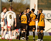 Photo: Leigh Quinnell.<br /> Milton Keynes Dons v Barnet. Coca Cola League 2. 20/01/2007. Referee Andre Mariner sends off Barnets Dean Sinclair.