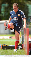 31 May 2013; Gethin Jenkins, British & Irish Lions, during the captain's run ahead of their game against Barbarian FC on Saturday. British & Irish Lions Tour 2013, Squad Captain's Run, Aberdeen Sports Ground, Aberdeen, Hong Kong, China. Picture credit: Stephen McCarthy / SPORTSFILE