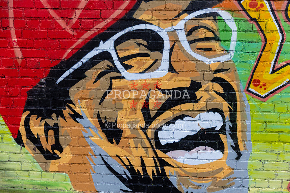 LIVERPOOL, ENGLAND - Saturday, November 28, 2020: Street art mural of Liverpool manager Jürgen Kloppby Caleb.art in the Baltic Triangle, Liverpool. (Pic by David Rawcliffe/Propaganda)