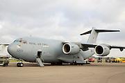 C17 transport plane at RAF Brize Norton in Oxfordshire, United Kingdom
