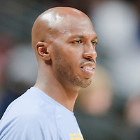 08 November 2010: Denver Nuggets' point guard #1 Chauncey Billups is seen prior to the Chicago Bulls 94-92 victory over the Denver Nuggets at the United Center, in Chicago, Illinois, USA.