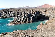Caves and blow holes rocky coastline Los Hervideros, Lanzarote, Canary Islands, Spain