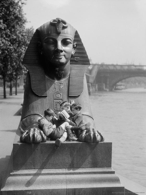 Sphinx with Children, London, 1933
