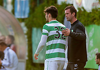 11/07/14 PRE-SEASON FRIENDLY<br /> DUKLA PRAGUE v CELTIC<br /> STEYR - AUSTRIA<br /> Celtic manager Ronny Deila (right) sends on striker Tony Watt