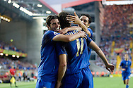 Italy celebrates their goal against the USA in the 2006 World Cup. The USA was the only team to tie Italy during the cup.
