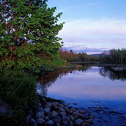 Acadia N.P., ME. Northeast Creek. Tidal creek. Sunset. Spring. Mt. Desert Island.