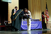 SHOT 5/10/15 3:15:31 PM - Naropa University Spring 2015 Commencement ceremonies at Macky Auditorium in Boulder, Co. Sunday. Parker J. Palmer, a world-renowned author and activist known for his work in education and social change, delivered the commencement speech to more than 300 graduate and undergraduate students along with Naropa faculty and graduate's family members. Naropa University is a private liberal arts college in Boulder, Colorado founded in 1974 by Tibetan Buddhist teacher and Oxford University scholar Chögyam Trungpa. (Photo by Marc Piscotty / © 2014)