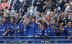 May 19, 2018 - London, England, United Kingdom - Chelsea's Gary Cahill with Trophy.After the The Emirates FA Cup Final match between Chelsea and Manchester United  at Wembley, London, England on 19 May 2018. (Credit Image: © Kieran Galvin/NurPhoto via ZUMA Press)