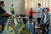 """30.05.2015 Lapy woj podlaskie n/z III Wystawa Makiet Kolejowych """" Kolej w miniaturze """" w skali TT fot Michal Kosc / AGENCJA WSCHOD"""