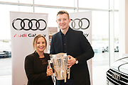 Connolly Motor Group has opened its new state-of-the-art Audi Terminal Showrooms in Ballybrit, Galway. <br /> The finishing touches have been put to the ultra-modern dealership, increasing to 35 full-time jobs, bringing the number of full-time employees at the Connolly Motor Group to over  200 with 35 of those located in Galway.<br /> Work on the new €5 million state-of-the-art dealership began just before Christmas last year and opened on Tuesday October 31st.<br /> The new 'Audi Terminal' is just a stone's throw from Connollys' former Audi Galway dealership at the Briarhill Business Park, close to the Galway Racecourse in Ballybrit. <br /> Finished to the highest spec with the most up-to-date technology, the 23,000 sq. ft. car retail facility is based around Audi's newest design concept. <br /> It is one of the most modern facilities in the country and includes the most up-to-date technology for electric vehicles with multiple power points.<br /> At the Weekend launch was Lorraine Ward Audi and Joe Canning .  Photo:Andrew Downes