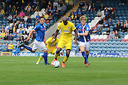 AFC Wimbledon striker Tom Elliott (9) makes a break through during the EFL Sky Bet League 1 match between Rochdale and AFC Wimbledon at Spotland, Rochdale, England on 27 August 2016. Photo by Stuart Butcher.