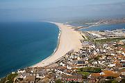 Chesil beach from Portland Bill, Dorset, England