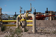 Oil and gas industry site in the Permain Basin in texas