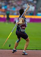 Athletics - 2017 IAAF London World Athletics Championships - Day Nine, Evening Session<br /> <br /> Mens Decathlon - Javelin<br /> <br /> Bastien Auzeil (France) launches the javelin at the London Stadium<br /> <br /> COLORSPORT/DANIEL BEARHAM